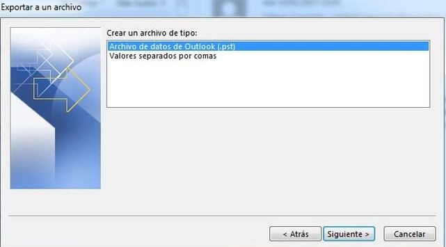 recuperar contactos de outlook
