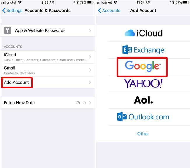 Sincronizar Contactos Android y Icloud 3