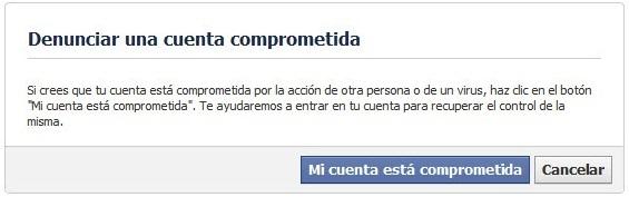 recuperar la cuenta de facebook
