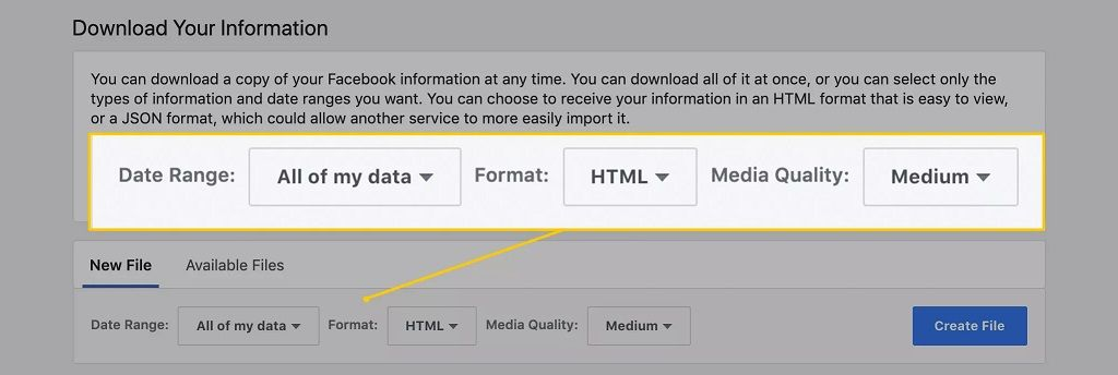selecciona-tu-información-de-facebook html