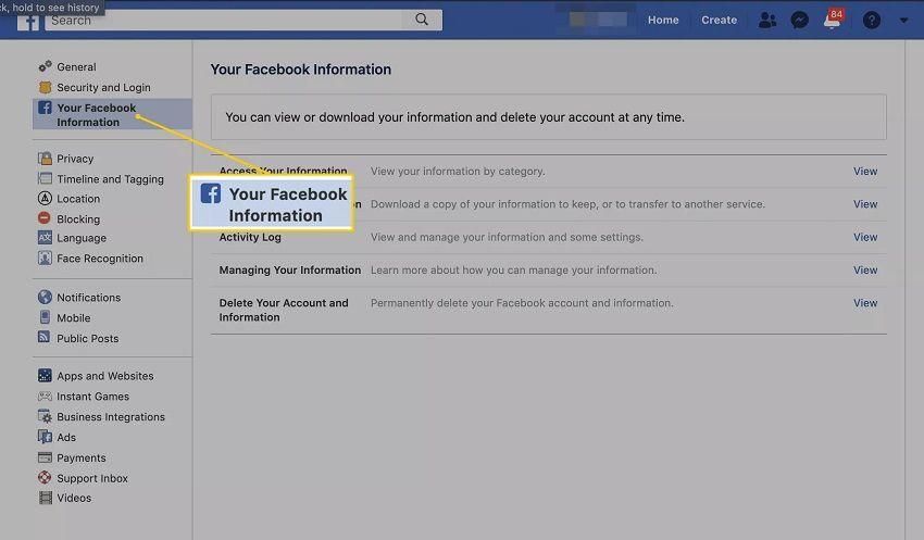 selecciona-tu-información-de-facebook