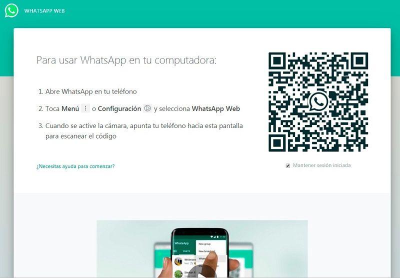 para usar whatsapp web en tu pc - codigo qr
