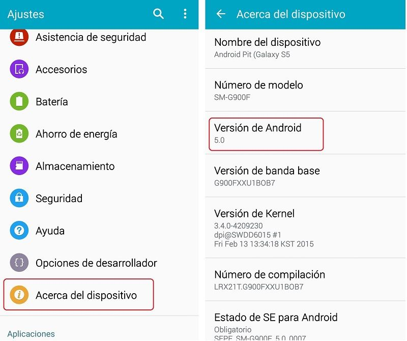 version-android