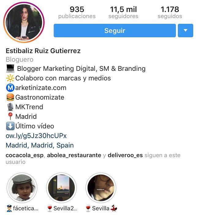 perfil instagram