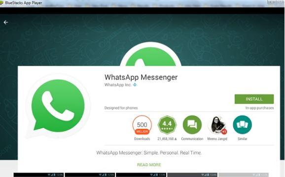whatsapp in bluestacks