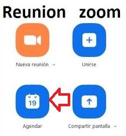 agendar reunion zoom