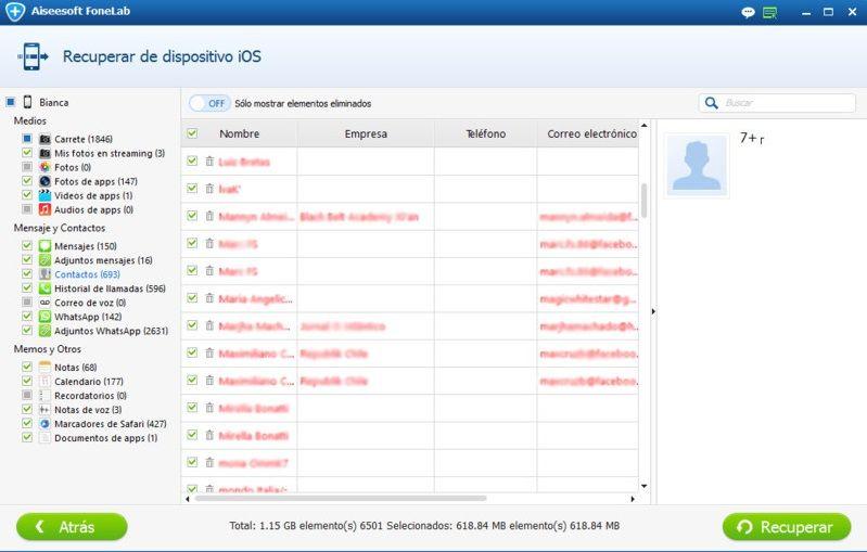 recuperar contactos facebook desde iphone 2
